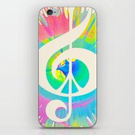 Tie Dye Music & Peace iPhone Skin