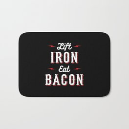 Lift Iron Eat Bacon Bath Mat
