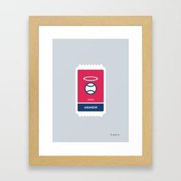 Anaheim Baseball Ticket (7 of 30) Framed Art Print