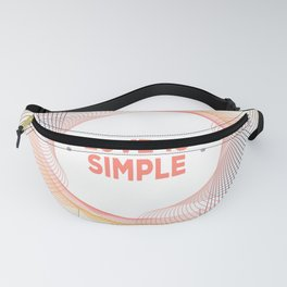 lOVE IS SIMPLE Fanny Pack