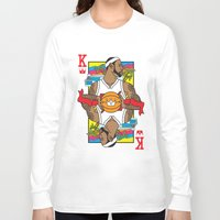 lebron Long Sleeve T-shirts featuring King James by Bobby Bernethy