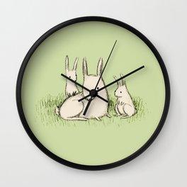 Bunny Family Wall Clock