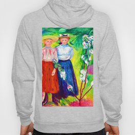 Edvard Munch Two Girls Under an Apple Tree in Bloom Hoody