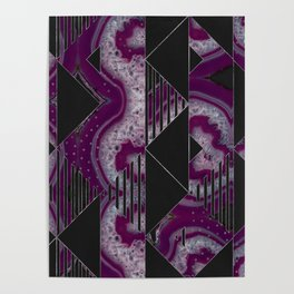 Agate Geode Textures Geometric Abstract  N1 Poster