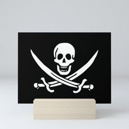 Pirate Flag Skull and Crossed Swords Jolly Roger Mini Art Print