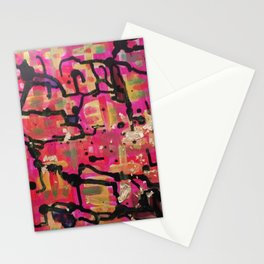 abstract gold and pink Stationery Cards