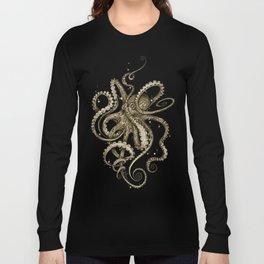 Octopsychedelia Sepia Long Sleeve T-shirt