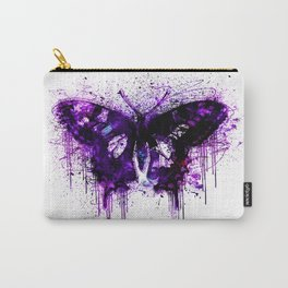 Crazy Butterfly artistic mixed media Carry-All Pouch