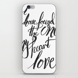 my heart loves iPhone Skin