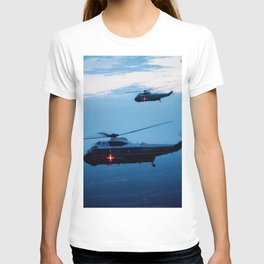 Support Helicopters Fly at Dusk T-shirt