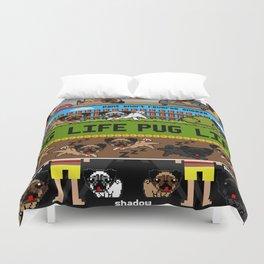 Pug Life Pixel Duvet Cover