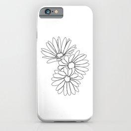 Daisies botanical illustration - Jo iPhone Case