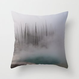 Steamy Hot Spring in Yellowstone Throw Pillow
