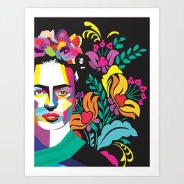 Frida Flores Art Print