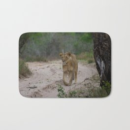 Female Lion at Tembe Elephant Park Bath Mat