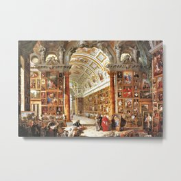 Giovanni Paolo Pannini Masterpiece Interior of a Picture Gallery with the Collection of theCardinal Metal Print