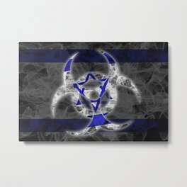 Biohazard Israel, Biohazard from Israel, Israel Quarantine Metal Print