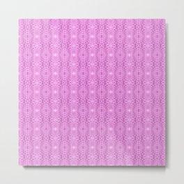 Pink Metallic Gossamer Web Digital Art Metal Print