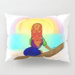 Kuna girl watching the sunset Pillow Sham