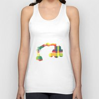 plaid Tank Tops featuring PLAID DIGGER by Bones and Balloons