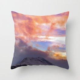 Flat Top Storm Clouds - Alaska Throw Pillow