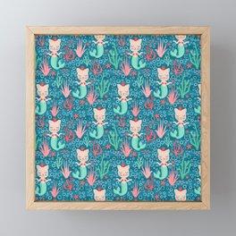 Purrmaids Framed Mini Art Print