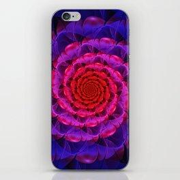 Ascension of a Vermilion Rose Fractal Spiral Bloom iPhone Skin