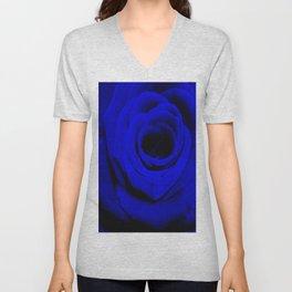 Expansion Blue rose flower Unisex V-Neck