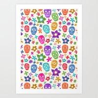 sugar skulls Art Prints featuring Sugar Skulls by Emmyrolland