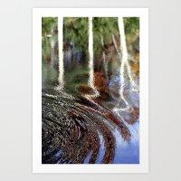 Ripple Trees Art Print