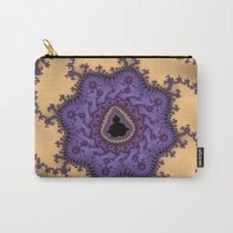 Elegant Purple Mandelbrot Fractal Print Carry-All Pouch