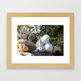 Sleeping Buddha Framed Art Print