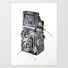 Camera Happy  Art Print