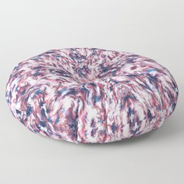 Pink and Blue Scramble  Floor Pillow