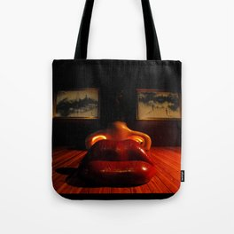 Mae West Close Up // Figueres Tote Bag