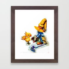 Vivi and the Chocobo Final Fantasy 9 Framed Art Print