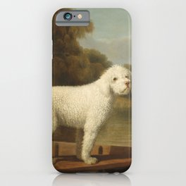 George Stubbs - White Poodle in a Punt iPhone Case