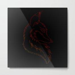 Wire Fox Metal Print