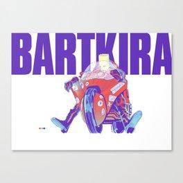 Red Motorcylce Rider Canvas Print