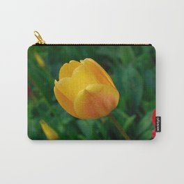 Close-up Of Bright Yellow Tulip Carry-All Pouch