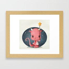 The Cute Monster Framed Art Print