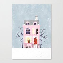 Xmas house Canvas Print