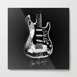 Stevie Ray Vaughan - Guitar-Blues-Rock-legend Metal Print