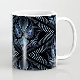 Art Deco 37. Black-blue satin . Coffee Mug