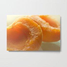 Slice apricots Metal Print