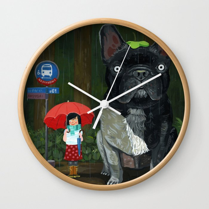 """My French Bull Chubu""  Wall Clock"