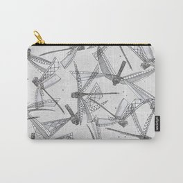 watercolor dragonflies silver Carry-All Pouch