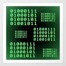 Binary code for GEEK Art Print