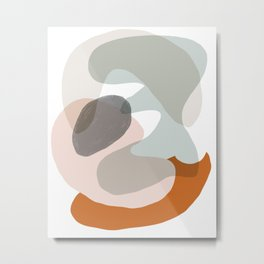 Shapes and Layers no.15 - soft neutral colors Metal Print