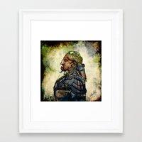 military Framed Art Prints featuring Military Cyborg by April Gann